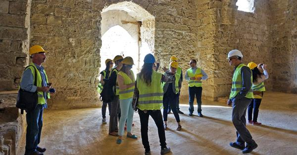 EMU Interior Architecture Department Academic Staff Analysed the UNDP-PFF Supported Restoration Work in Othello Castle