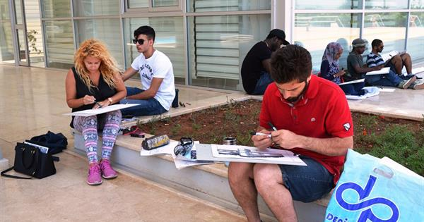 Students of EMU Architecture Department Work on Exterior Spaces within EMU Campus