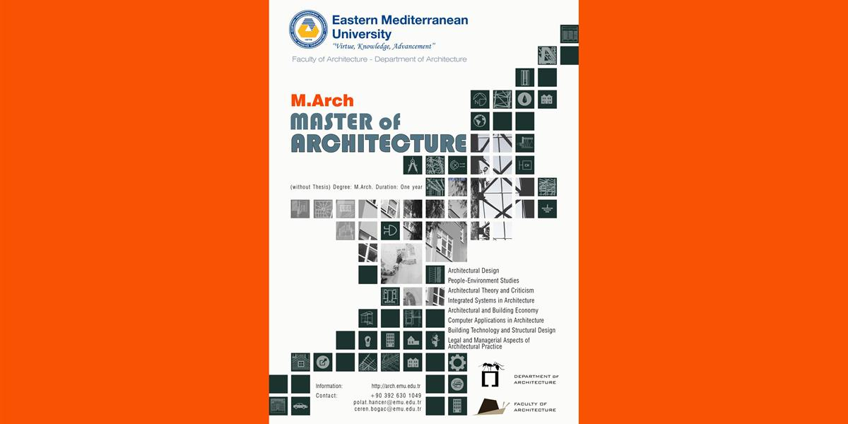 M.Arch. Master of Architecture (without Thesis)