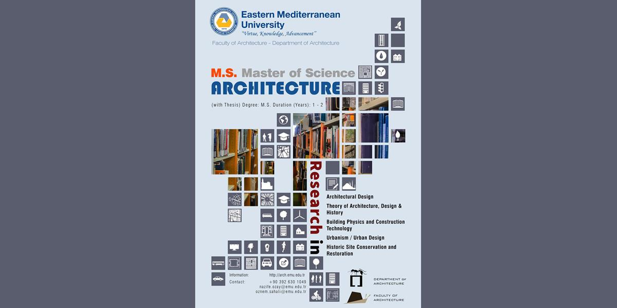 M.S. Master of Science in Architecture (with Thesis)