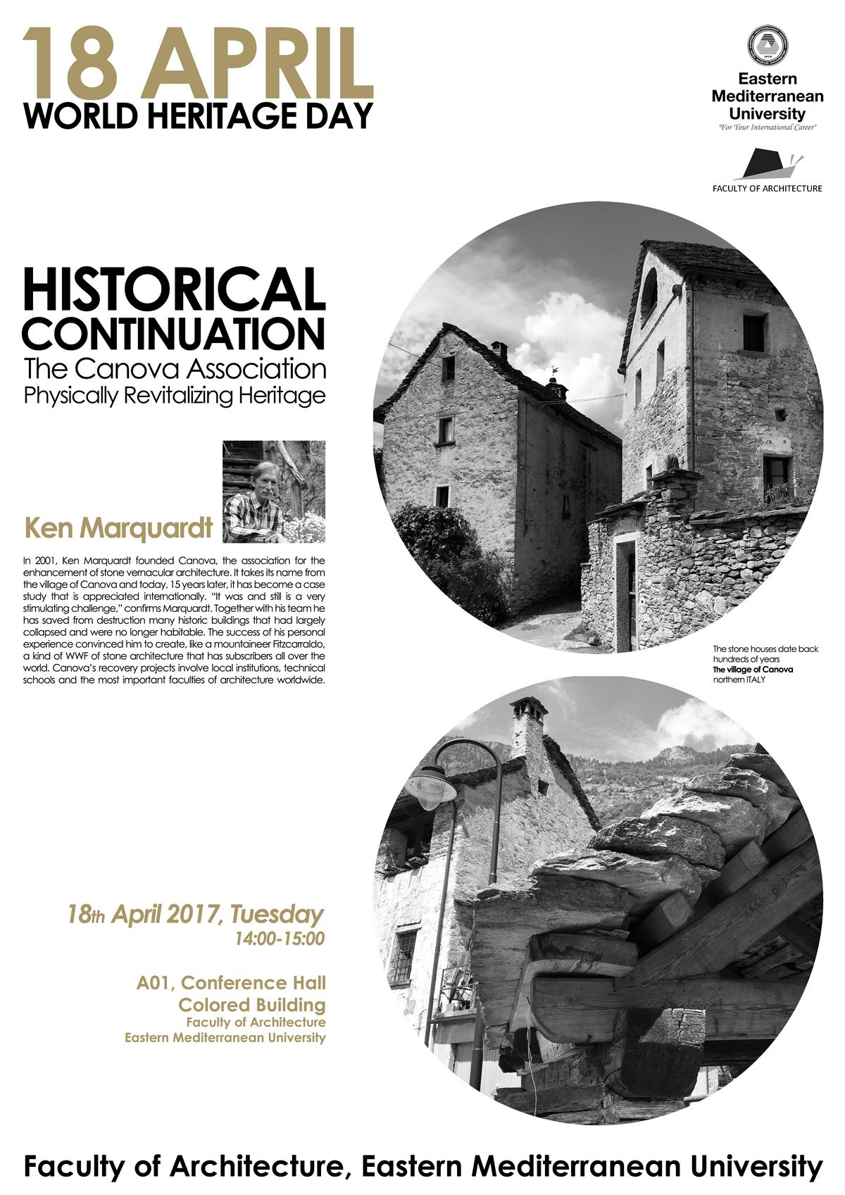 """Historical Continuation,The Canova Association: Physically Revitalizing Heritage"" Ken Marquardt"