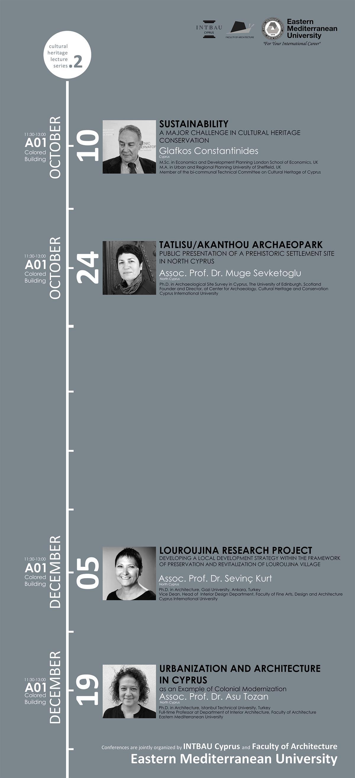 Emu Calendar.Cultural Heritage Lecture Series 2 Calendar Announcements